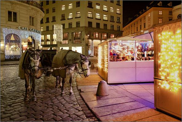Vienna: mercato natalizio notturno - © Massimo Vespignani