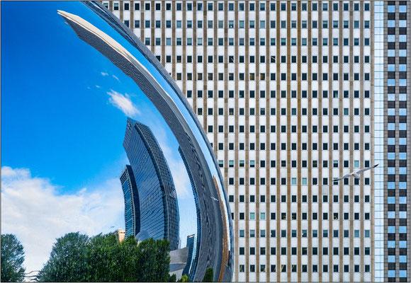 """Chicago: riflessi sulla scultura """"Cloud Gate"""" - © Massimo Vespignani"""