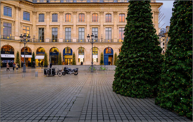 Addobbi natalizi in Place Vendôme - © Massimo Vespignani