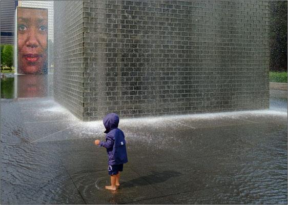 Chicago: la Crown Fountain nel Millennium Park - © Massimo Vespignani