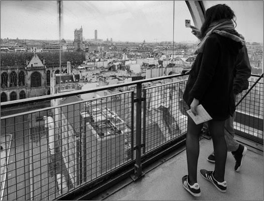 Balcone panoramico al Centro nazionale d'arte e di cultura Georges Pompidou - © Massimo Vespignani