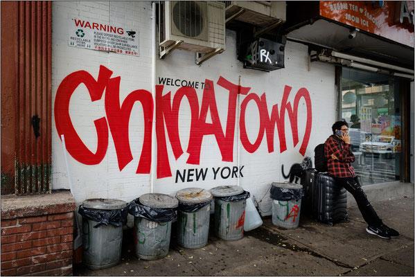 New York City: uno angolo del quartiere cinese caratterizzato da frenetiche attività commerciali - © Massimo Vespignani