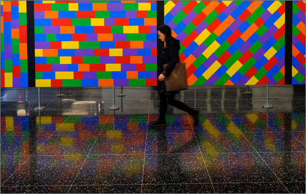 New York City: atrio d'ingresso al Museum of Modern Art (MoMA) - © Massimo Vespignani