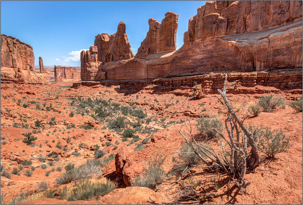 Arches National Park (Utah): Park Avenue Viewpoint - © Massimo Vespignani