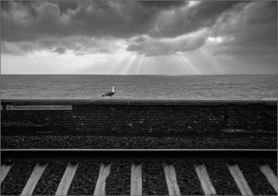 Cinque Terre: stazione ferroviaria di Manarola - © Massimo Vespignani