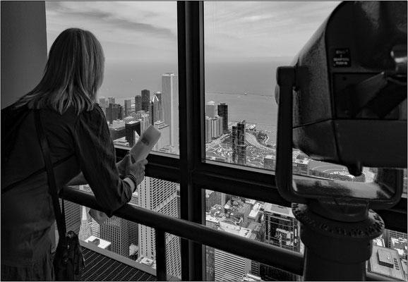 Chicago: veduta dallo Skydeck (103° piano) della Willis Tower - © Massimo Vespignani