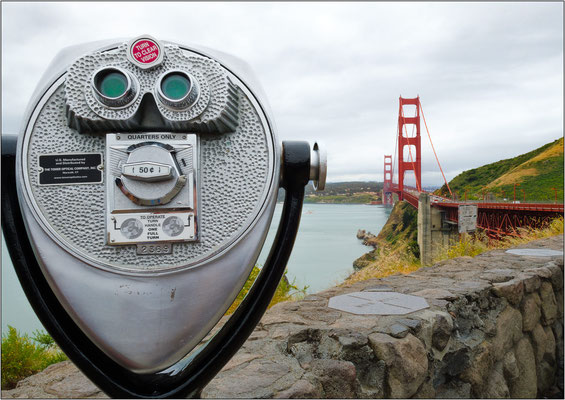 San Francisco (California): Golden Gate Vista Point - © Massimo Vespignani