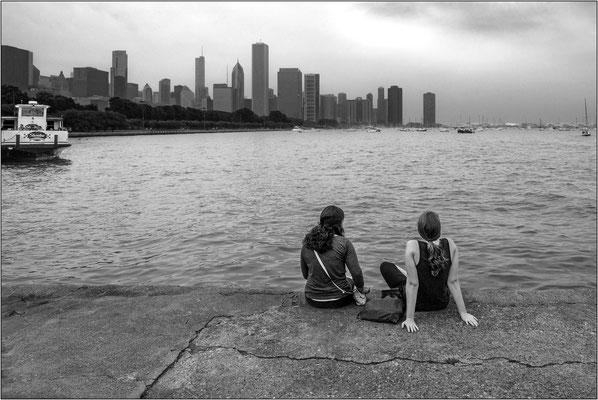 Chicago: skyline sul lago Michigan - © Massimo Vespignani