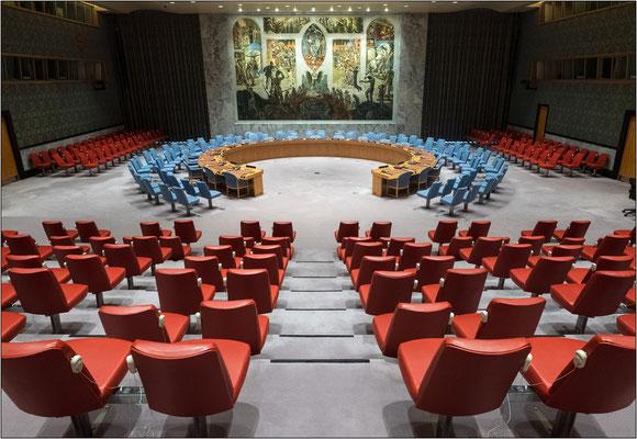 ONU: aula del Consiglio di Sicurezza delle Nazioni Unite - © Massimo Vespignani