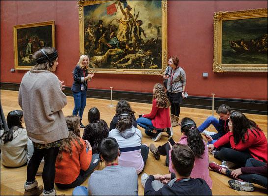 """Museo del Louvre: il dipinto """"La Liberté guidant le peuple"""" del pittore francese Eugène Delacroix - © Massimo Vespignani"""