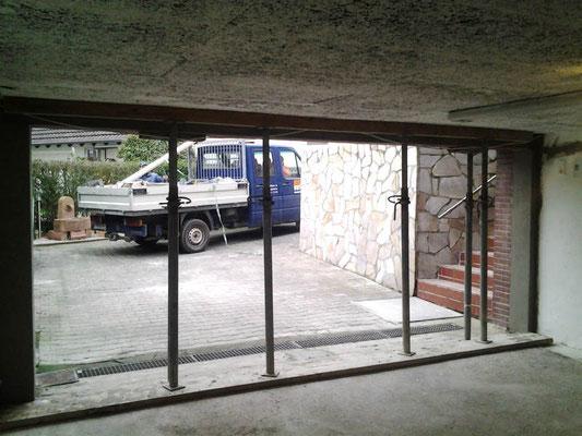 Garagentor Verbreitern umbauarbeiten einer garageneinfahrt bauunternehmung