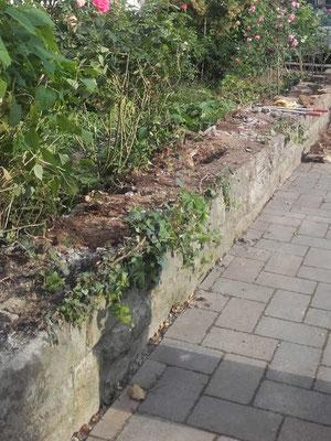 Natursteinmauer saniert