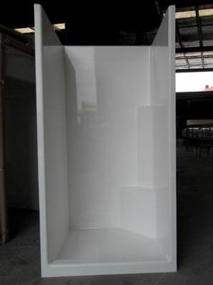 Fibreglass Shower Enclosure 900x900mm - Low Front
