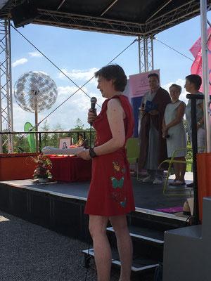 Lesung Würzburg 26.07.2018, mit Regina und Randolph Pleske und Inge Schmid-Göppert
