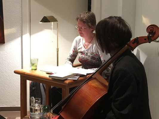 Premierenlesung 21.11.2018 mit Monika Herrmann (Cello)