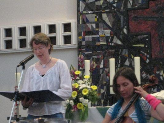 Lukaskirche, mit Monika Herrmann (Cello) und der Nordstadtkantorei, 2014
