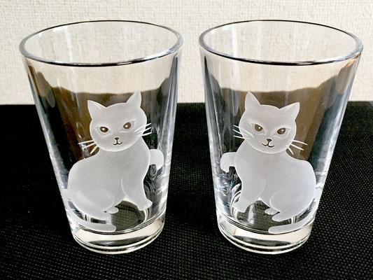 ペアグラス ネコ