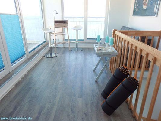 Studio: Platz und Sportmatten für Gesundheits- und Entspannungsübungen