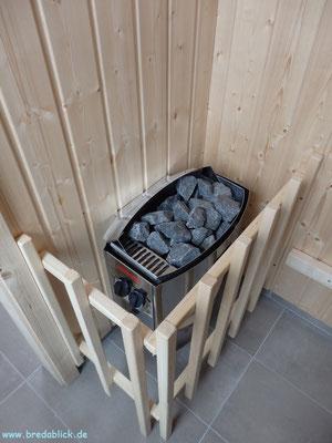 Sauna im Obergeschoss