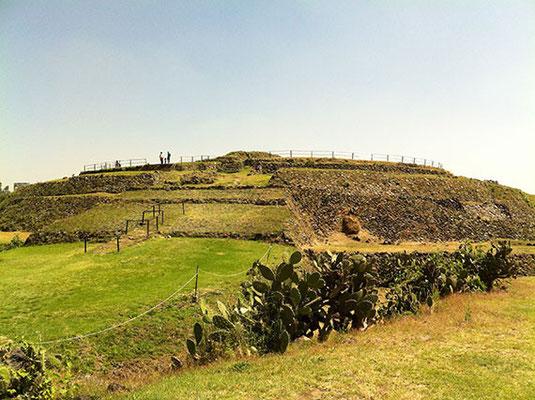 Cuicuilco, pirámide redonda, al sur de la Ciudad de México
