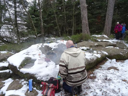 Mont St. Odile im Schnee, con nieve...