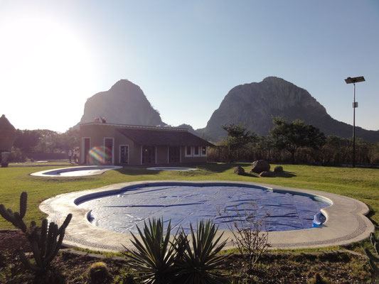 the 2 sacred mountains of the olmec santuary in Morelos state