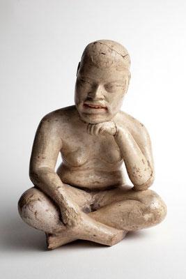 """Figura olmeca tipo """"baby-face"""" en cerámica de Las Bocas, Puebla, 1200-800 a.C."""