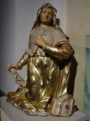 Odilia statue in the monastery of Mont St. Odile