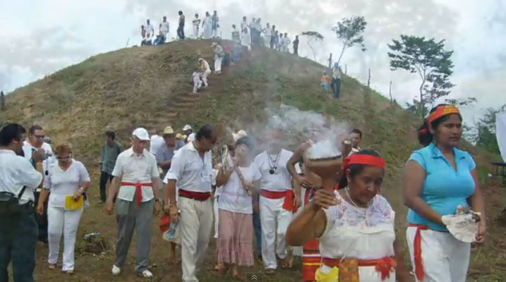 """masculine"" pyramid of the Serpent-Jaguar-island, Minatitlán"