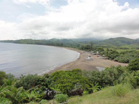 vista sobre la bahia de la playa de Roca Partida