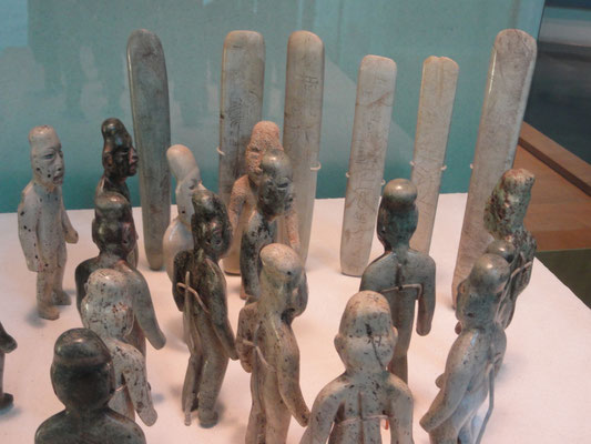 the famous Jade figures doing a ceremony - that's how the olmecs were!