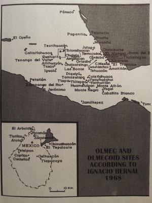 Sitios olmecas y olmecoides...