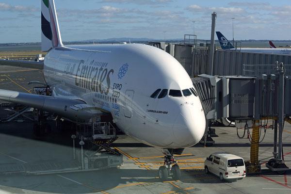 Flughafen Auckland / Rückflug nach München