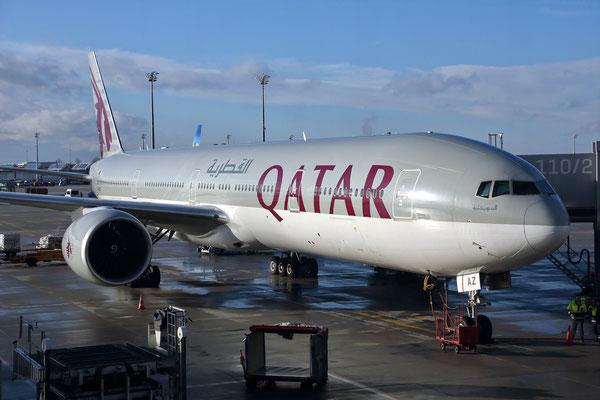 Abflug von München über Doha und Bangkok nach Hanoi