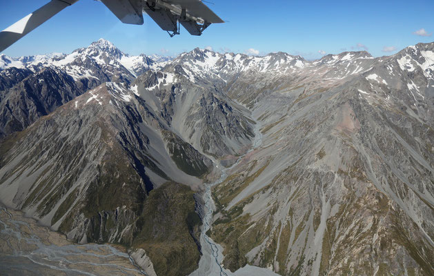 Rundflug am Mount Cook