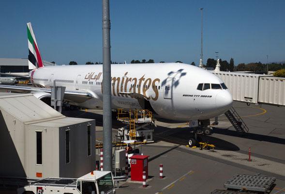 Ankunf in Christchurch von München über Dubai, Bangkok und Sydney
