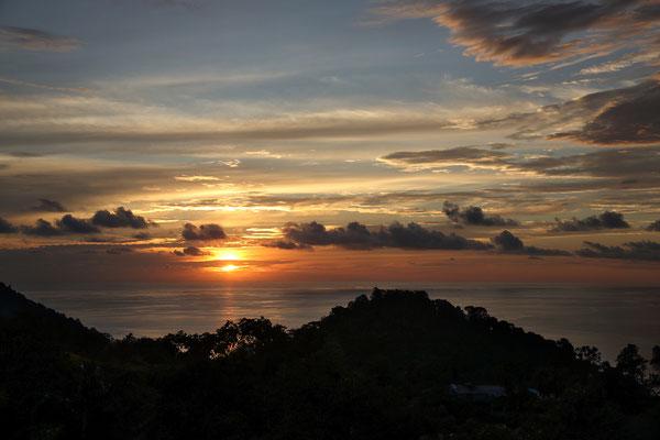 Sonnenuntergang bei Quepos