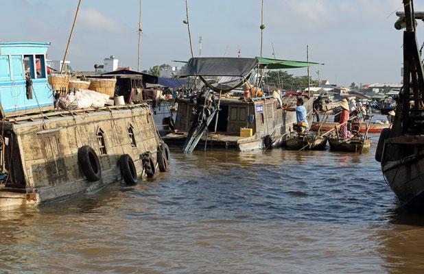 Die schwimmenden Märkte in Can Tho