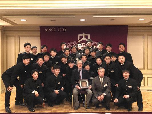 大道信敏さん(S12入)百歳のお祝い