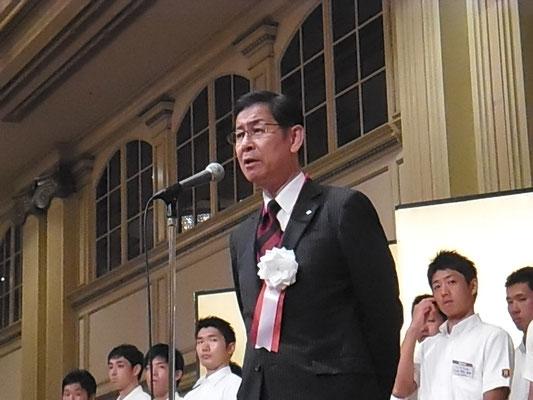 島田陽一副総長からのご祝辞