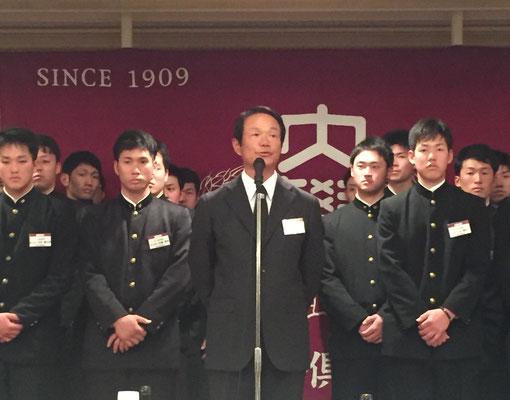 高橋広監督(S52卒)挨拶
