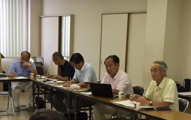 阿部会計監事、小室活性化委員会委員、藤田活性化委員会委員、中谷総務リーダー、佐野幹事長