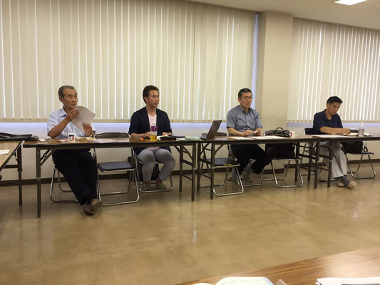 関口副会長、阿部会計リーダー、菊地広報リーダー、相澤総務グループ委員