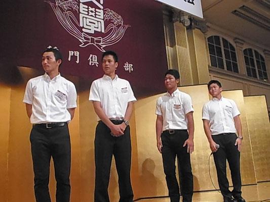 河原主将、茂木選手、大竹投手、小島投手インタビュー