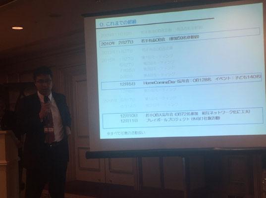 大渕 隆さん(H5卒) プレイ・ボールプロジェクト説明