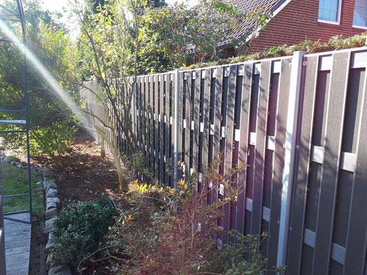 WPC Zaun von Traumgarten - Bau durch GreenFairway e.K.