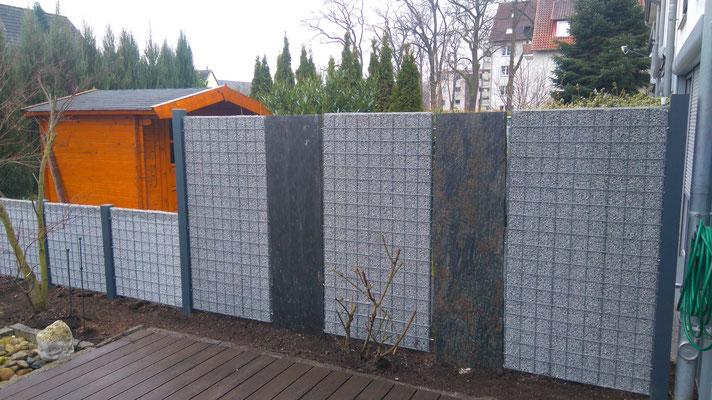 Splittgabionen, Gabionen - Bau in Hannover, Isernhagen und Burgwedel, GreenFairway e.K.