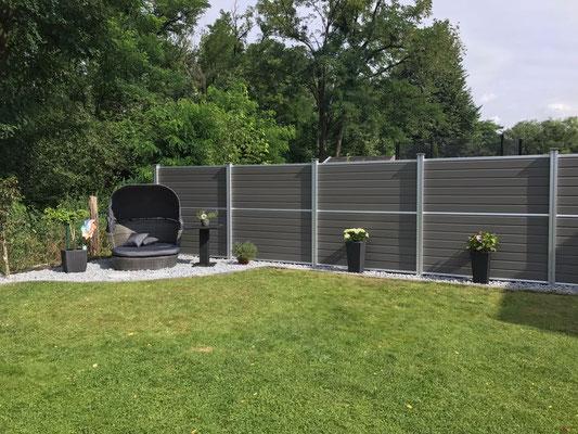 WPC Zaun in Hannover inkl. Gartengestaltung von GreenFairway e.K.