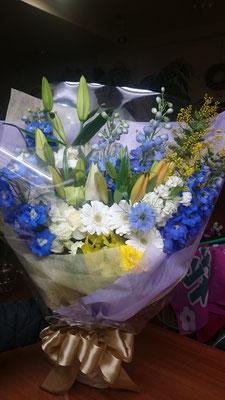 ご卒業御祝いの花束