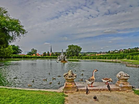 Friedrich-Wilhelm Gevers: Teich mit Enten